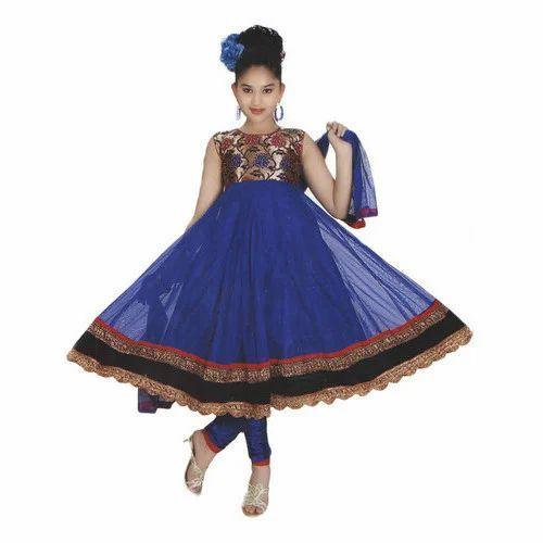 e49f0c2213 Blue Party Wear Kids Churidar Suit, Rs 1500 /piece, Kabir ...