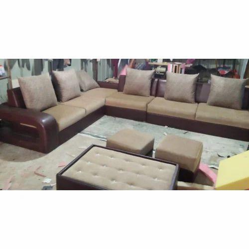 6 Seater L Shape Sofa Set Rs 40000 Set Wood Arts India Id
