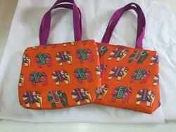 Aa Totes Printed Kalamkari Silk Tote Bags