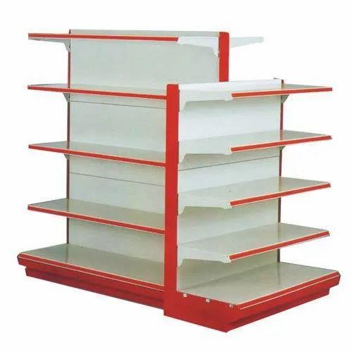Wood 5 Shelves Supermarket Display Rack, For Supermarket,shopping,mall