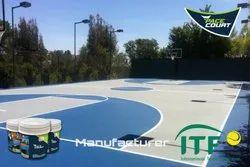Outdoor Basketball Court Construction