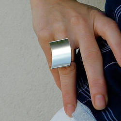 Silver Plated Handmade Women Adjustable Design Rings