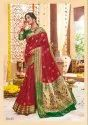 Spectacular Pure Paithani Silk Embroidered Party Wear Saree