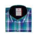 Mens Collar Neck Cotton Check Shirt
