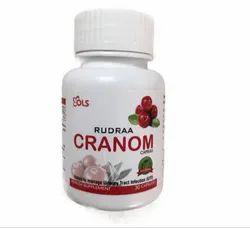 Rudraa Cranom (Cranberries And D-Mannose ) 30 Capsules For Uti Treatment