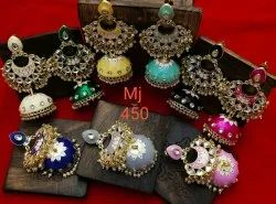 Party Wear Meenakari Jhumka Earring