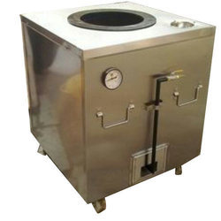 Square Stainless Steel Gas Tandoor for Restaurant