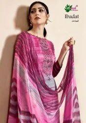 Aadesh Nx Present Ibadat Cotton Satin Summer Wear Salwar Kameez