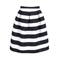 Multicolor Stripes Black and White Skirt