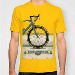 Large Yellow Printed T-Shirt