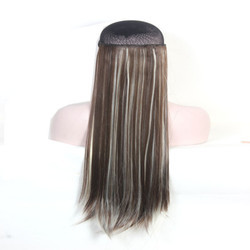Fashionable Light Blond and Dark Brown Straight Hair
