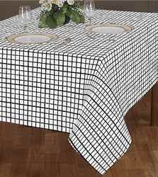 Woven Check Table Cloth