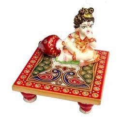 Marble Chowki Ladoo Gopal
