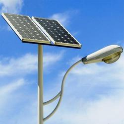 Double Solar Street Light with Single Pole