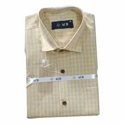 ACB Varnam Checked Casual Wear Mens Cotton Check Shirt, Size: S-XL