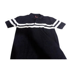 Black Plain Polo Neck T Shirt, Size: Medium And Large