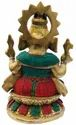 Nirmala Handicrafts Brass Ganesha Statue Multicolor Stone Work God Idol Statue Temple And Home Use