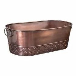 Galvanized Steel Copper Antique Beverage Party Tub