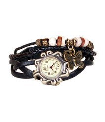 Leather Bracelet Wrist Watch For Women, Girls