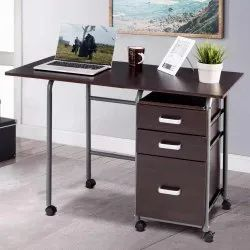 3 Drawer Metal Rectangular Office Table