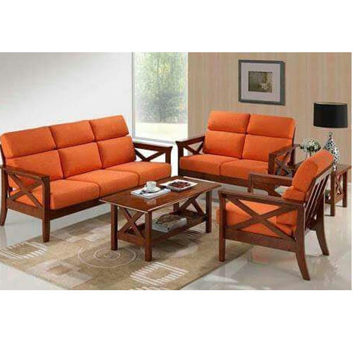 Modern Orange Sofa Set
