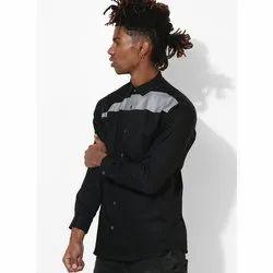 Green Hill Men's Designer Black Grey Shirt