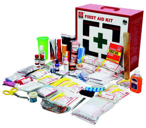 Red & White Steel Industrial First Aid Kit Large - SJF M2, Packaging Type:  Box, Model Name/Number: SJF-M2, Rs 4500 /piece   ID: 11879850033