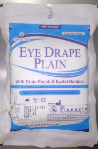 Ophthalmic Drape with drain pouch C.NO : P0021