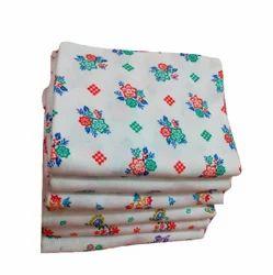 Cotton Colors White Printed Bath Towels