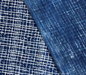 Dabu Indigo Blue Check Hand Block Printed Stripped Fabric