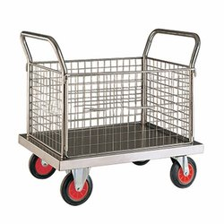 Jg Acero Stainless Steel Laundry Trolly, For Factories