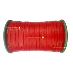 Red Flat Leather Cords