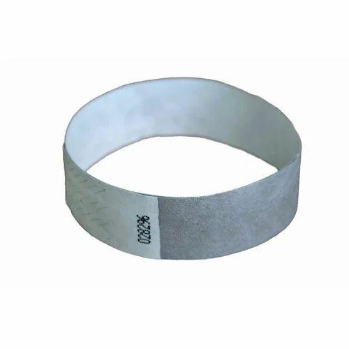 """1000 Plain 1/"""" Tyvek Paper Wristbands WHITE"""