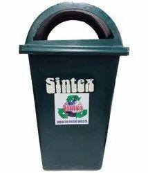 Open Top Green Sintex dustbin, for Office