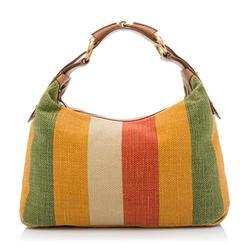 Women Ladies Stripes Canvas Shoulder Bag