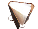 Binding Leather Journal with Beautiful Stone