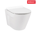White Closed Front Somany Enzo - Wall Hung Toilet For Bathroom Fitting