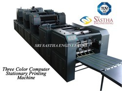 Three Colour Computer Stationery Printing Machine