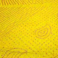 Bandhani Cotton Saree, 6.3 Meter With Blouse Piece