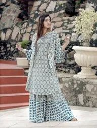 Ladies Long Designer Kurta with Sarara