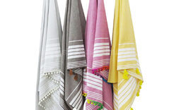 Fouta Towels with Pom Poms