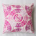 Indian Cotton Pink Embroidery Home Decor Decorative Sofa Chair Cushion Cover