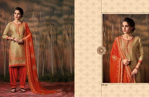 Patiala House Kessi Fabric Cotton Semi Stitched Fancy Salwar Suits