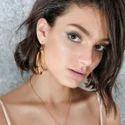 18K Gold Plated Dangle Earrings Designs for Girls Women
