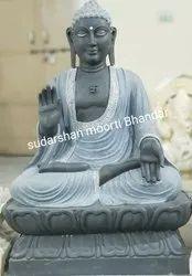 Mahatma Buddha Marble Statue