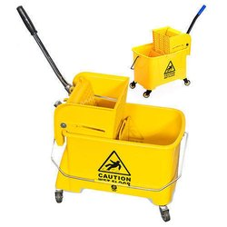 Yellow Abs Plastic Mopping Trolley, Model Name/Number: 0101CK31, Bucket Capacity: 20 Litre