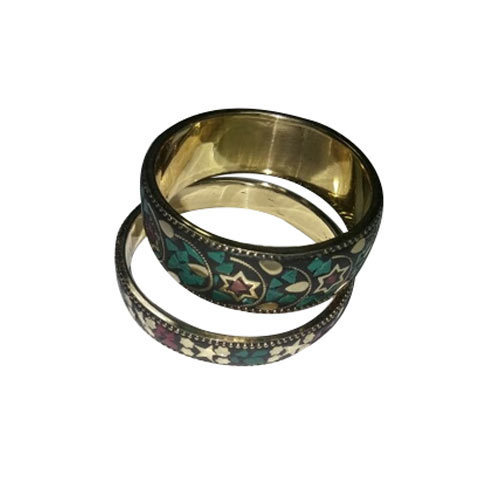 Brass Stone Bangle