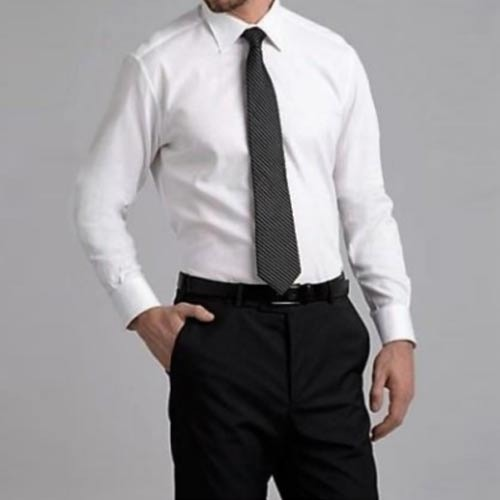 160a183b7b Cotton White Shirt And Black Pant
