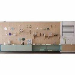 Brown Aluminium Wall Shelves