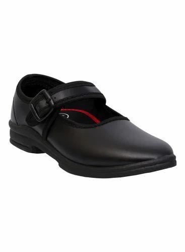 Lumax Girls School Black PVC Shoes
